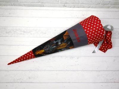 Drache Schultüte aus Stoff 70cm oder