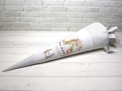 Pferdekopf Schultüte aus Stoff 70cm mit