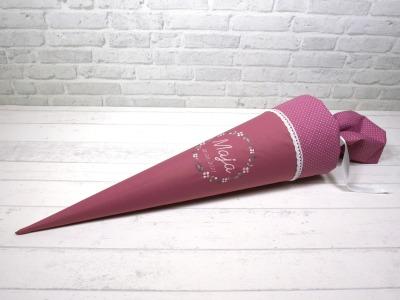 Schultüte Blumenkranz aus Stoff Zuckertüte 70cm