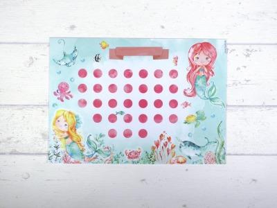 Belohnungstafel Meerjungfrau Belohnungskarte Kinder inkl Sticker