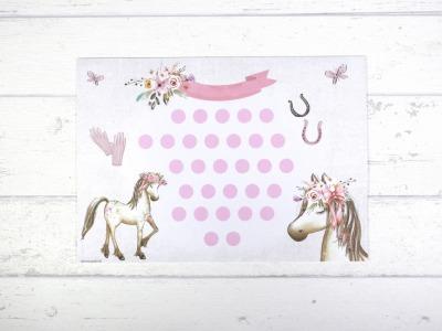 Belohnungstafel Pferd Belohnungskarte Kinder inkl Sticker