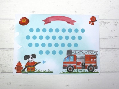 Belohnungstafel Feuerwehr Belohnungskarte Kinder inkl Sticker