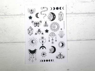 Sticker Boho schwarz