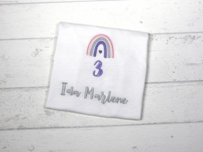 Shirt Geburtstag Regenbogen personalisierbar mit Name
