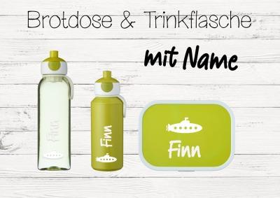 Brotdose U-Boot mit Name Trinkflasche personalisiert