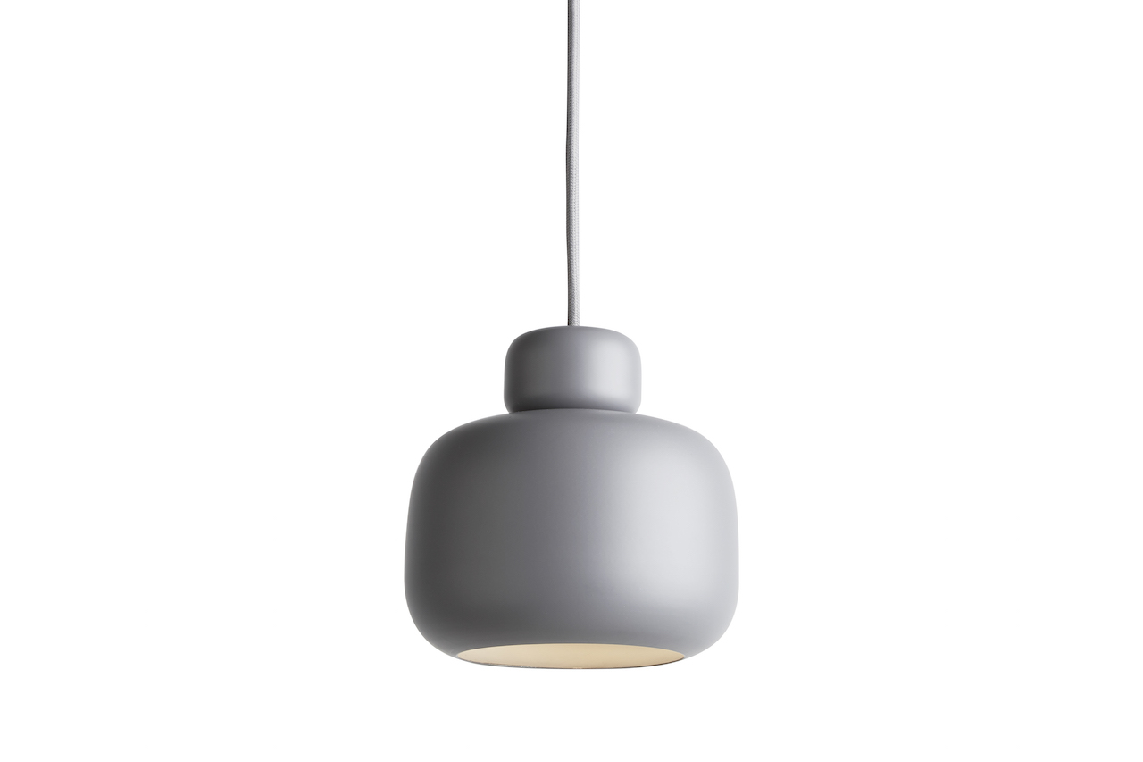 PENDELLEUCHTE STONE PENDANT SMALL - grey von WOUD Design - 2