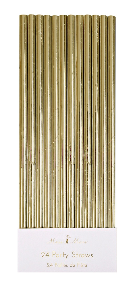 PARTY STRAWS PAPIER STROHHALME GOLD von - 1