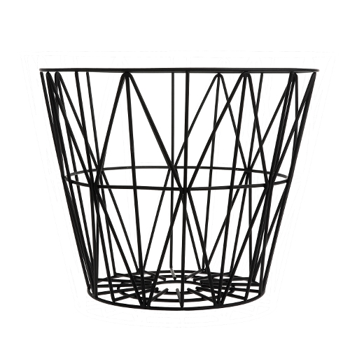 Wire Basket Small Black von ferm