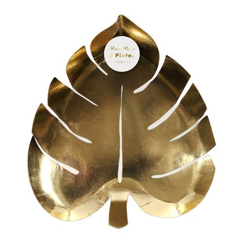 GOLD PALM LEAF PAPPTELLER von Meri Meri - 1