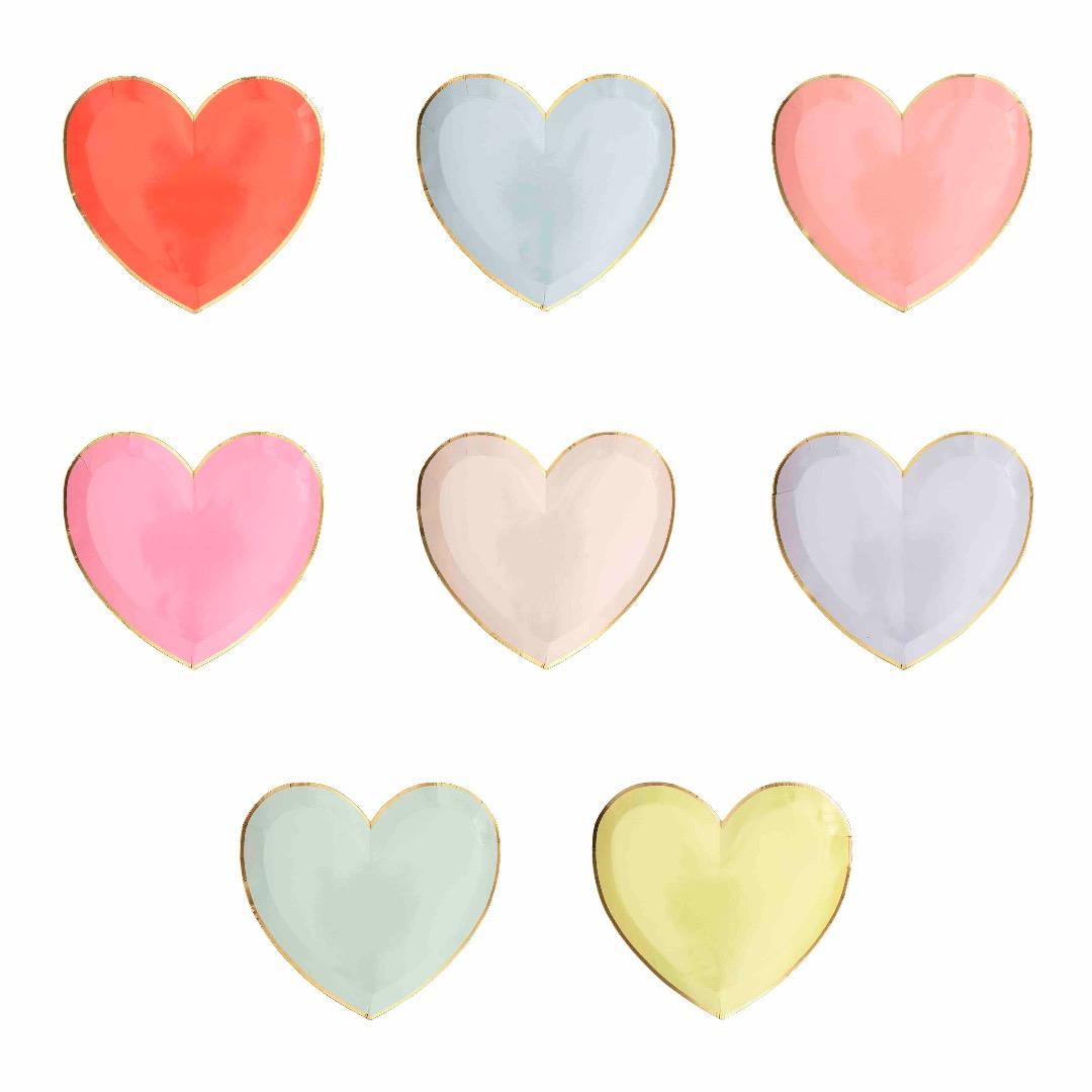 RAINBOW HEART PAPPBECHER von Meri Meri - 2