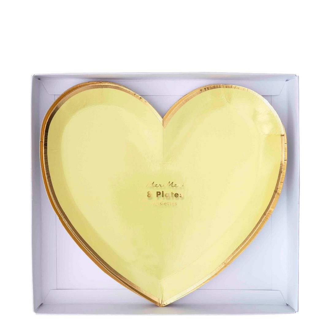 RAINBOW HEART PAPPTELLER von Meri Meri