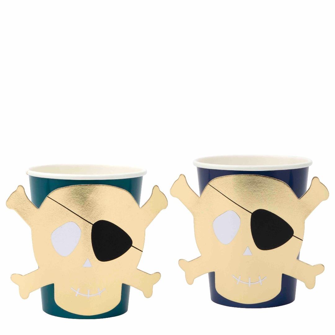 PIRATEN PAPPBECHER / PIRATES BOUNTY PARTY CUPS von Meri Meri - 2