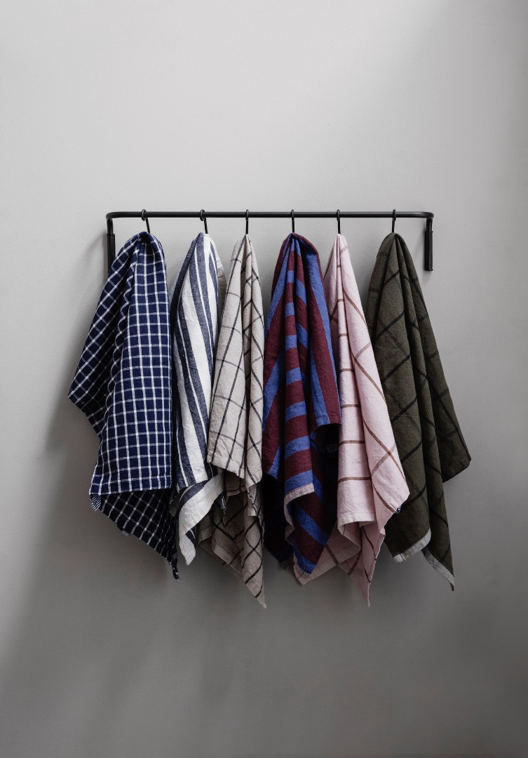 Geschirrtuch Hale Yarn-Dyed Tea Towels Green/Black