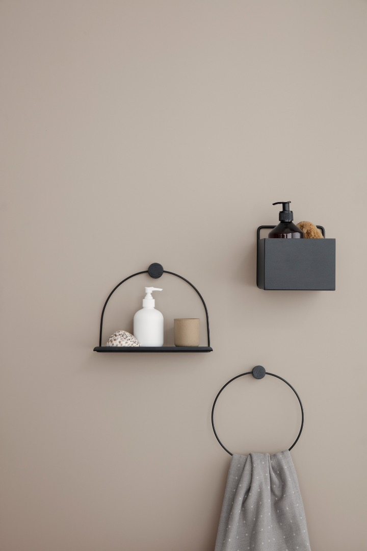 Wandregal Bathroom Shelf Black von ferm