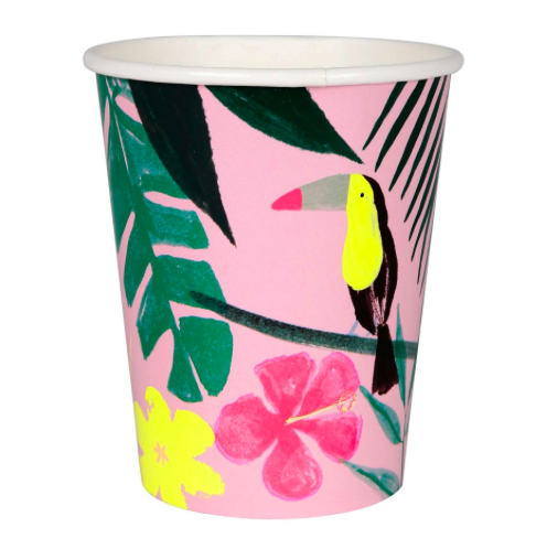 PINK TROPICAL PAPPBECHER