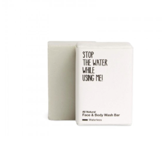 ALL NATURAL FACE & BODY WASH BAR WATERLESS von STOP THE WATER WHILE USING ME