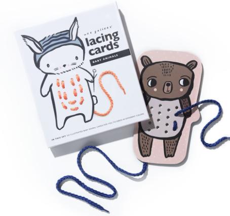 FÄDELSPIEL BABY ANIMALS LACING CARDS von - 1