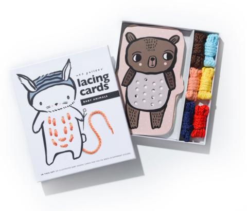 FÄDELSPIEL BABY ANIMALS LACING CARDS von - 2