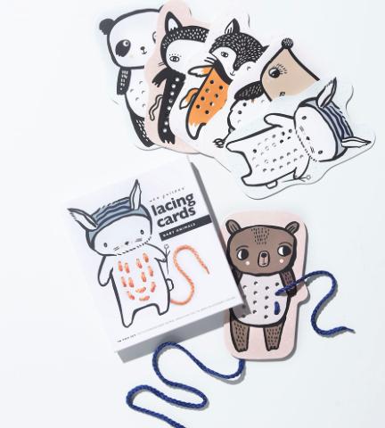 FÄDELSPIEL BABY ANIMALS LACING CARDS von - 3