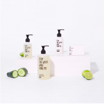 HANDCREME GURKE LIMONE / HAND BALM CUCUMBER LIME 200 ml von STOP THE WATER WHILE USING ME