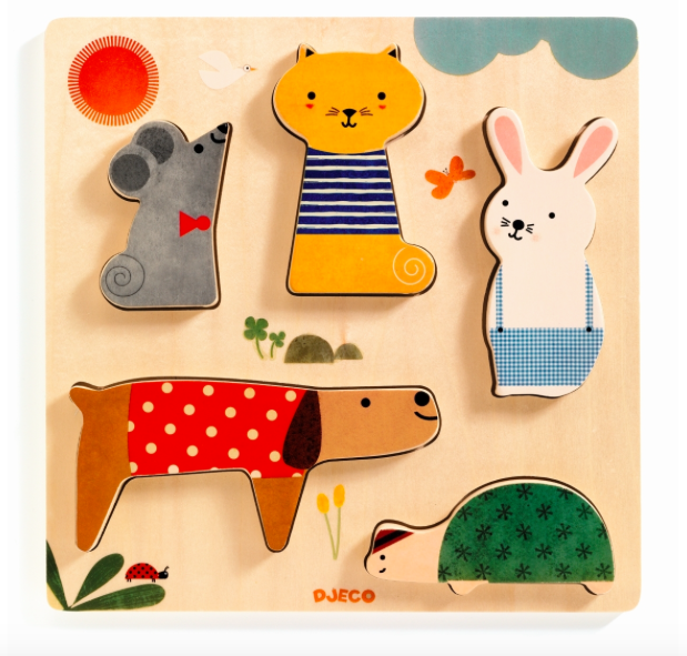 Holz-Puzzle Woodypets von Djeco