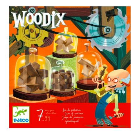 Knobel- und Geduld-Spiel Woodix von Djeco