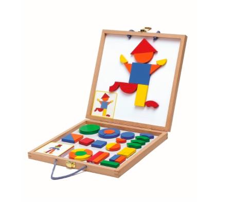 Holz-Magnete Spiel Geoforme von Djeco