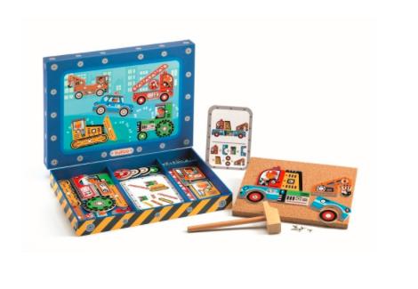 Hämmerchen-Spiel Tap Tap Fahrzeuge von Djeco