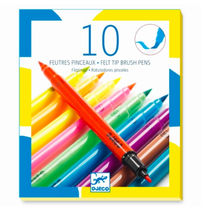 10 Filzstifte Pop Farben von Djeco