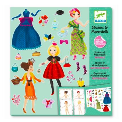 Stickerpuppen Set Paperdolls Massive Fashion von