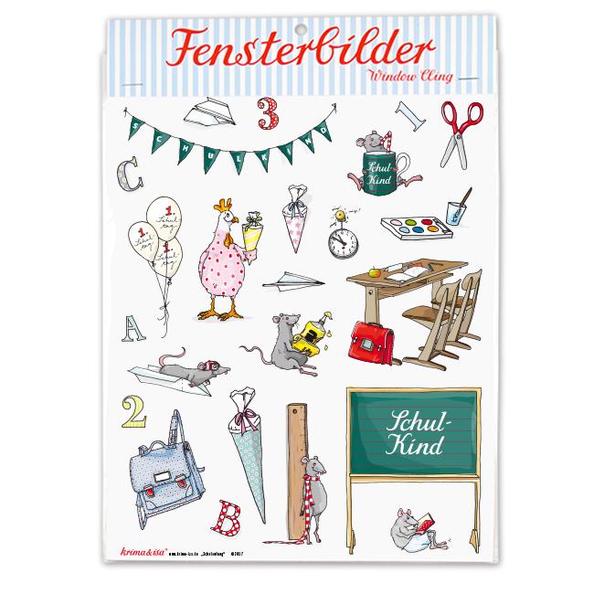 FENSTERBILDER SCHULKIND - 1