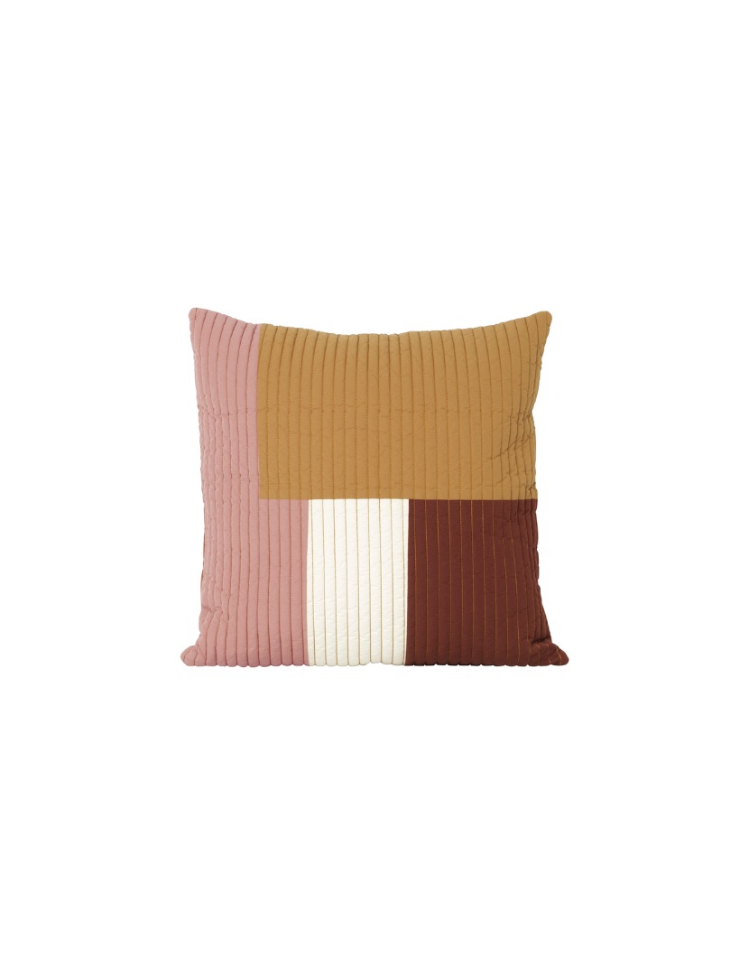 Kissen Shay Patchwork Quilt Cushion Mustard