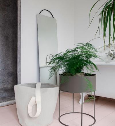 PLANT BOX ROUND WARM GREY von