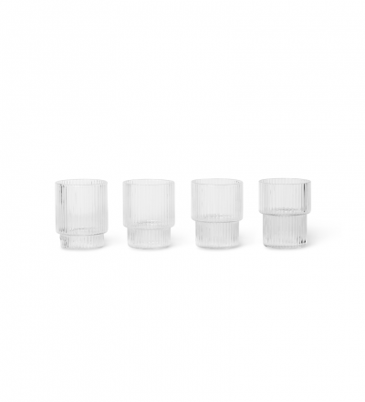 Gläser Ripple Glass Clear Set of