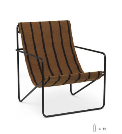 Desert Lounge Chair Black/Stripes von ferm