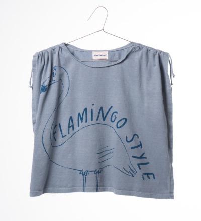 BC T-Shirt Drawstring Flamingo - bobo choses