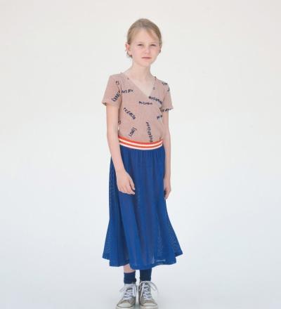 BC Nadia Midi Skirt Blue - bobo choses