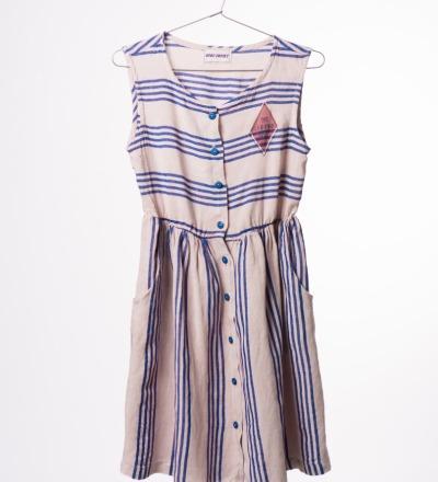BC Striped Shaped Dress Legend - bobo choses