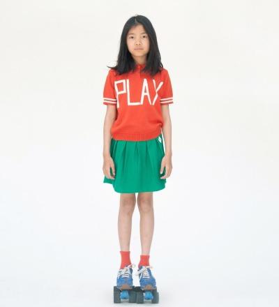 BC Polo Knit Jumper Play Red - bobo choses