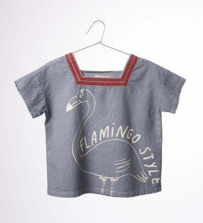 BC Sailor Shirt Flamingo - bobo choses