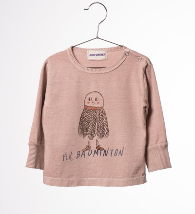 BC L/S Baby T-Shirt Mr. Badminton - bobo choses