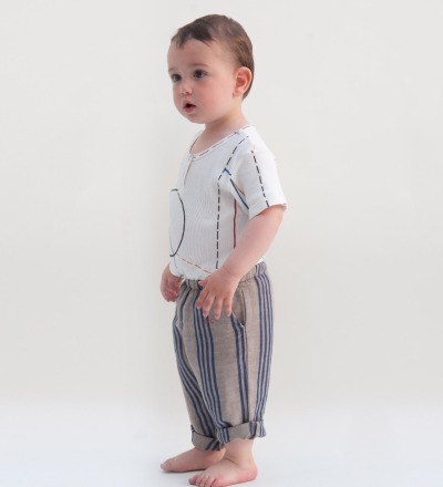 BC Striped Baby Trousers B.C. emb. - bobo choses