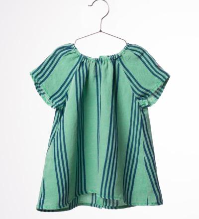 BC Striped Baby Dress B.C. emb. - bobo choses