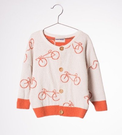 BC Baby Knit Cardigan The Cyclist A - bobo choses