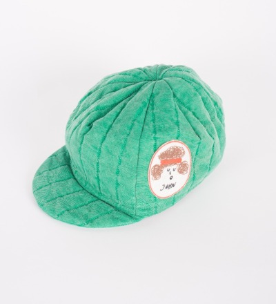 BC Padded Cycling Cap Patch Green - bobo choses