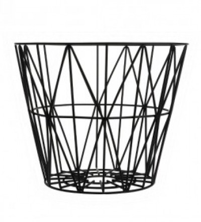 WIRE BASKET BLACK SMALL - Ferm Living