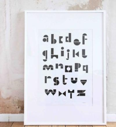 POSTER ABC BLACK/WHITE von SNUG.STUDIO - SNUG.STUDIO
