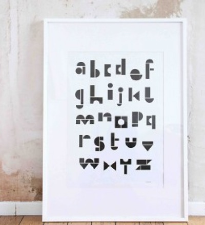 POSTER ABC BLACK/WHITE von SNUGSTUDIO SNUGSTUDIO