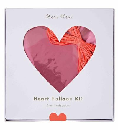FOLIENLUFTBALLONS PINK HEART BALLOON KIT von Meri Meri - Meri Meri