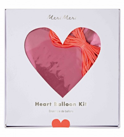 FOLIENLUFTBALLONS PINK HEART BALLOON KIT von